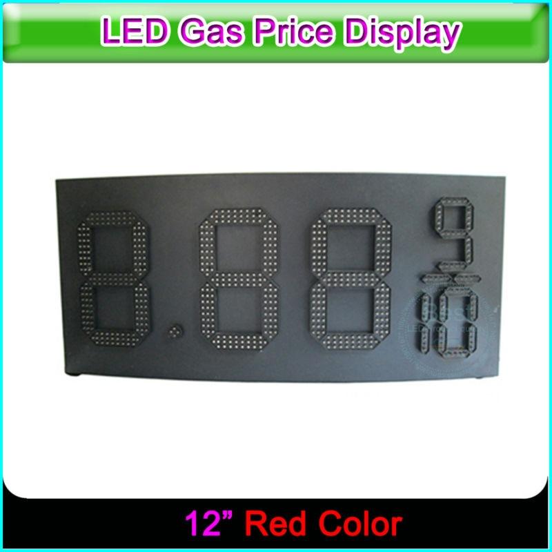 Signe numérique de prix de LED de couleur rouge de Station service extérieure de 12