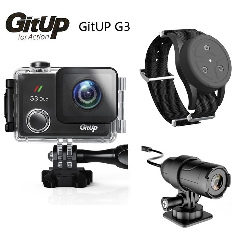 GitUP G3 DUO Git3 FOV 170 Degree 2 Screen GYRO 2K Wifi Acation Cam 2160P 30fps HD Video Recorder w/Remote Control Slave Camera gitup gps module slave camera combination for g3 duo camera