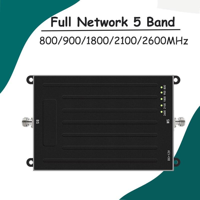 NUOVO! ALC 800/900/1800/2100/2600 MHz 5 Band ripetitore Del Segnale GSM 3G W-CDMA UMTS 4G LTE Ripetitore Del Cellulare B20/B8/B3/B1/B7 Amplificatore