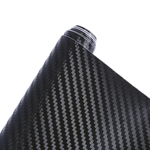 цена на 152*30cm 200cm*40cm Car-styling Car Body Film Black Fashion 3D Carbon Fiber Vinyl Sticker For Motorcycle Car pod td0821 dropship