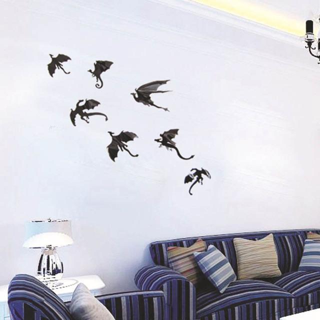7pcs House Targaryen Removable Wall Stickers