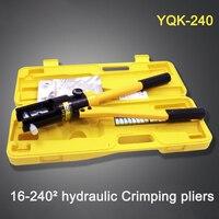 Бесплатная доставка DHL 3 шт 16-240 мм обжимной диапазон гидравлический обжимной инструмент YQK-240