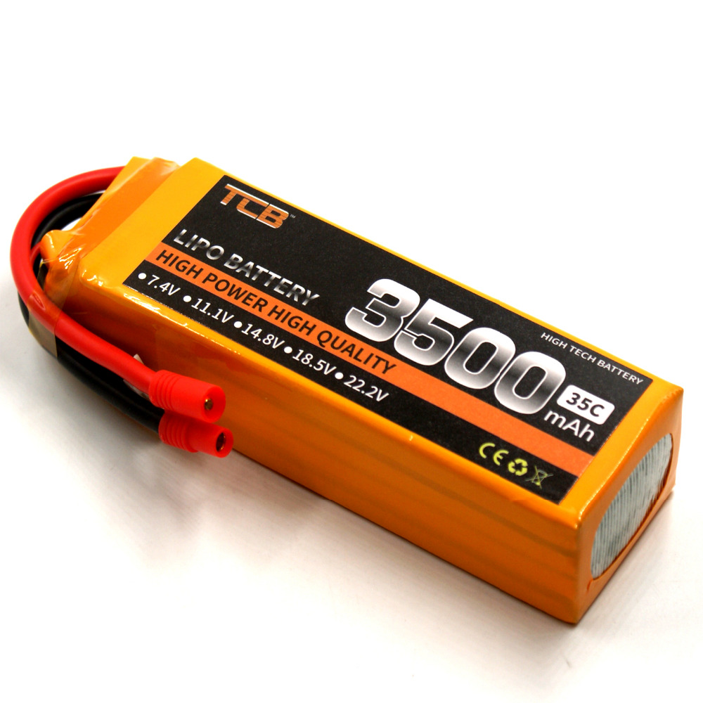 TCB RC lipo battery 14.8v 3500mAh 35C 4s for rc airplane quadrocopter RC helicopter free shipping 1s 2s 3s 4s 5s 6s 7s 8s lipo battery balance connector for rc model battery esc