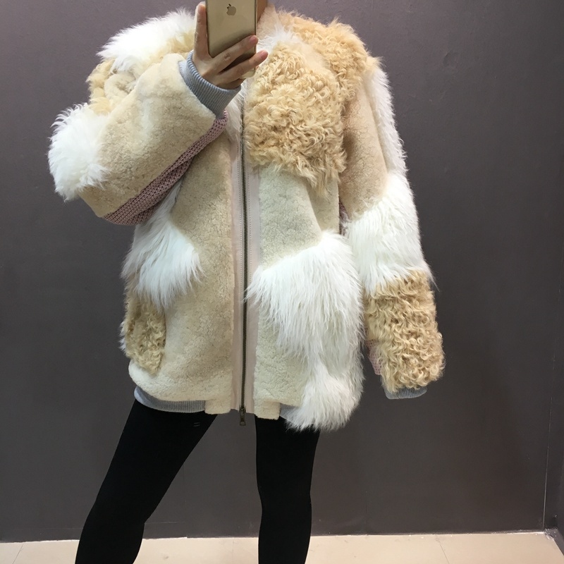 natural sheep fur coat real lamb fur (2)