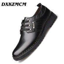DXKZMCM Handmade Men Dress Shoes, Business Brand Leather Men Shoes, Casual Design Men Flats, Men Oxfords