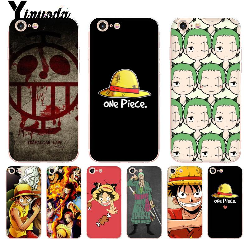 Yinuoda Japanese Manga One Piece Coque Shell Phone Case for iPhone 8 7 6 6S Plus X 10 5 5S SE XS MAX XR11 11pro 11promax