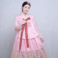 High Quality Korean Traditional Costume Women Korea Hanbok Dress Asian Clothing Nation Stage Dance Performance Dresses