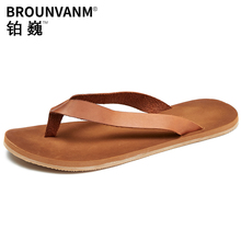 Cowhide mens anti-skid Slippers personality summer sandals Sneakers Men Slippers Flip Flops casual Shoes beach outdoor leather mens anti skid sandals fender summer men genuine leather slippers cowhide sneakers men flip flops casual shoes beach outdoor