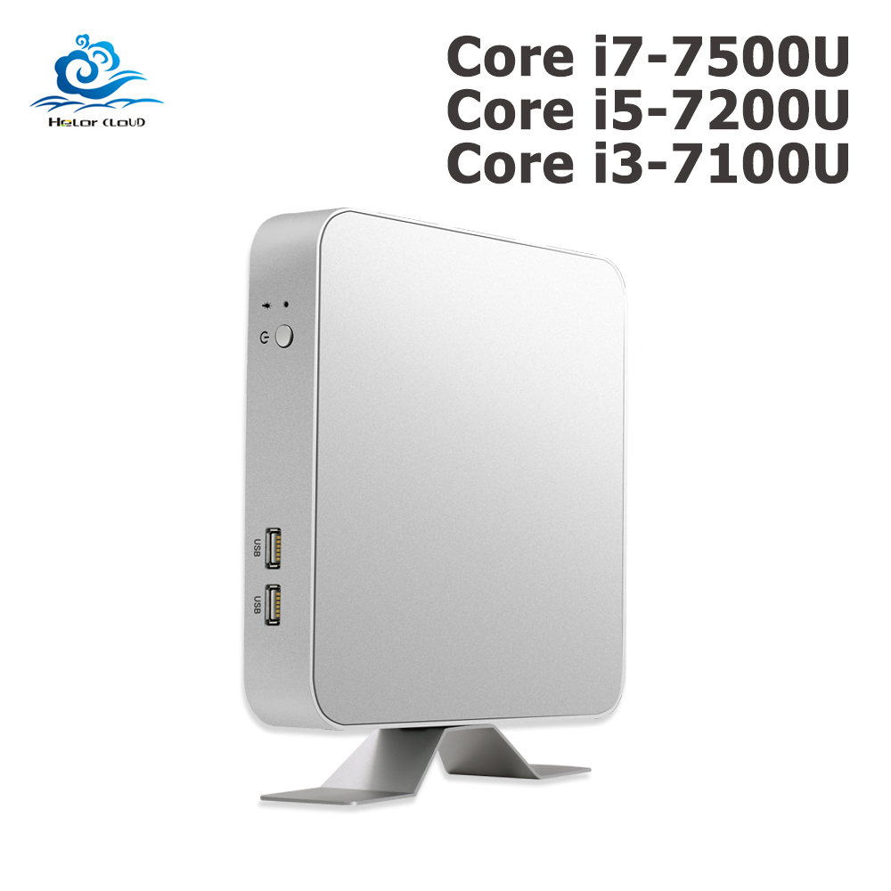 Mini PC 7th Gen Core i7 7500U i5 7200U i3 7100U Windows 10 4K Computer HD Graphics 620 HDMI WIFI USB3.0 Desktop gaming pc-in Mini PC from Computer & Office