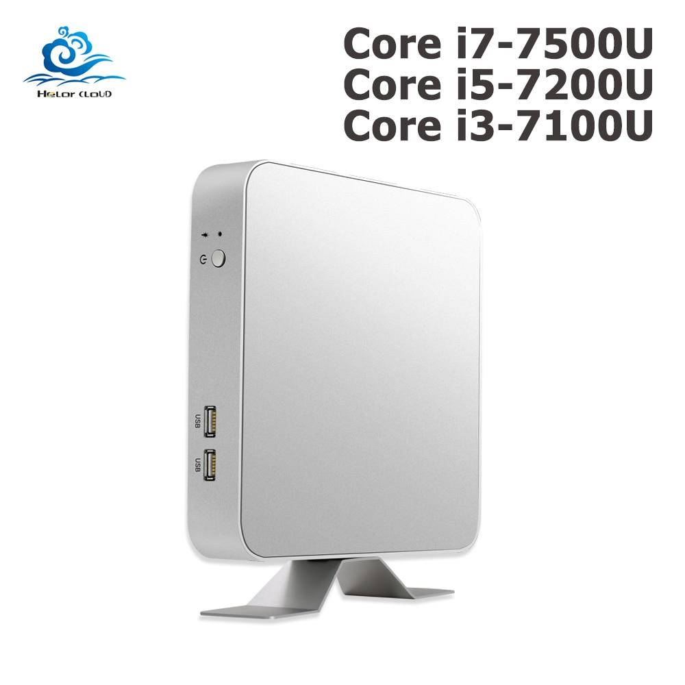 Mini PC 7th Gen Core I7 7500U I5 7200U I3 7100U Windows 10 4K Computer HD Graphics 620 HDMI WIFI USB3.0 Desktop Gaming Pc