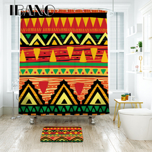 IBANO Vintage Partern Shower Curtain Waterproof Polyester Fabric Bath Curtain For The Bathroom Decorate With 12pcs Plastic Hooks