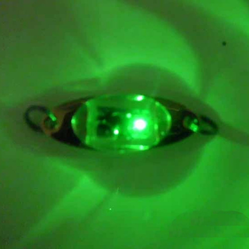 1PC green Fun Underwater LED Deep Drop Fishing Squid Flashing Lamp Fish Lure Light