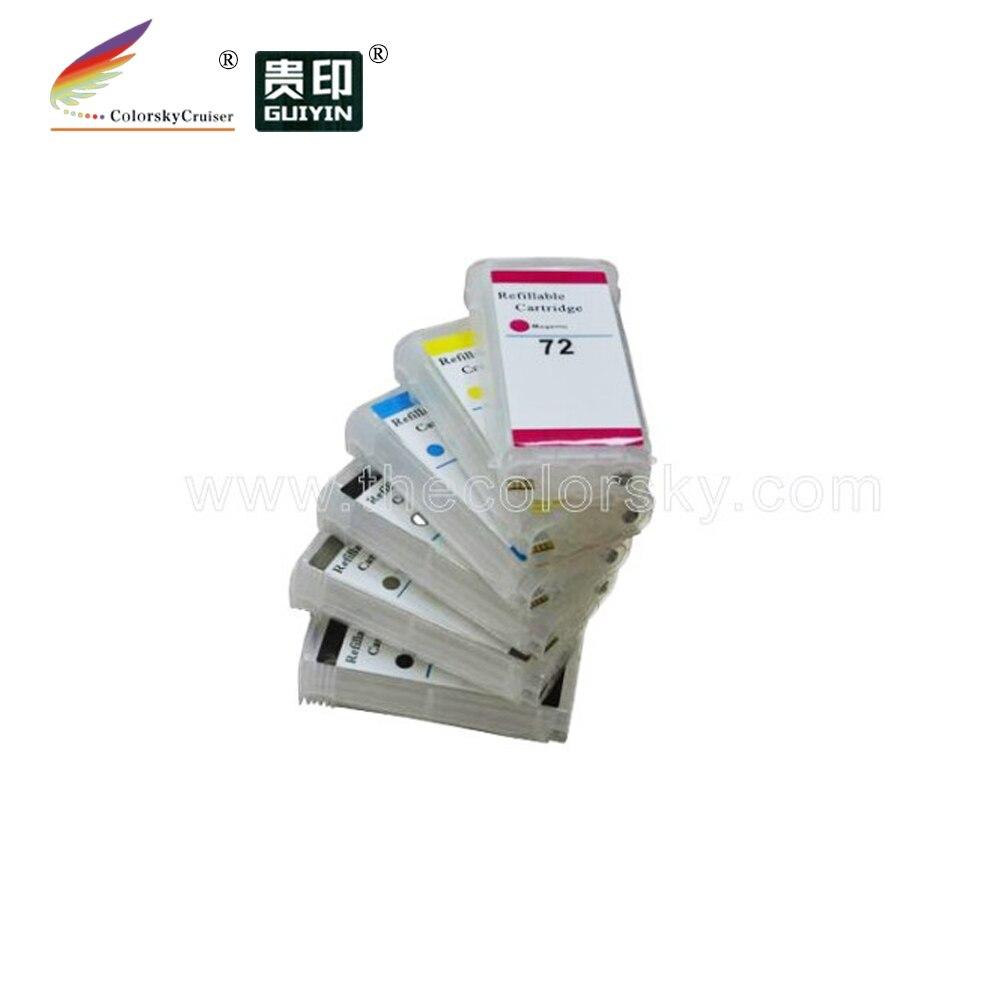 (rch-72) Nachfüllbare Tinten Patrone Für Hp Hp72 72 T610 T620 T790 T1100 T1120 T1200 T770 T2300 C9403a C9397a Mit Arc