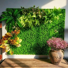 1pc 40*60cm Artificial Grasses Plants Wall Fake Lawn Leaf Grass Blossom Foliage for Home Garden wedding Decor