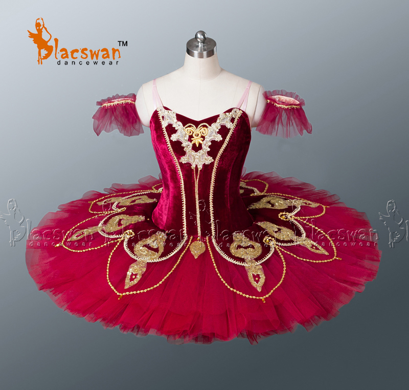 Show details for Nutcracker Professional Tutus  BT674 Adult Classical Tutu White Girls Carmen Tutu Ballet Professional Burgundy
