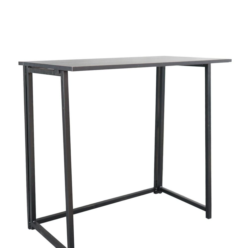 Bureau d'ordinateur pliable Simple noir