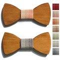 2016 do sexo feminino moda bow tie bowtie designer de mariage mulheres gravata de madeira de madeira do casamento do homem papillon gravata masculina gravata