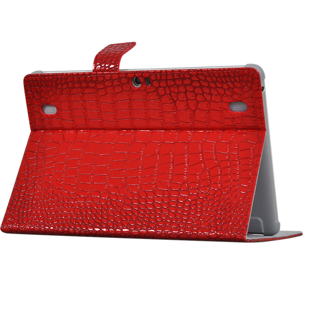 For Huawei Mediapad 10 Fhd / Mediapad 10 Link 10.1 inch Tablet Crocodile Grain Pattern PU Leather Protective Cover Case + stylus free shipping 3in1 10 1 inch luxury kit stand case crocodile leather cover for huawei mediapad 10 fhd 10 link capa funda