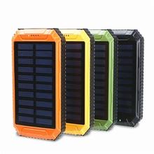 LiitoKala Lii-D004 Solar Power Bank 20000mAh Dual USB Cigarette Lighter Phone Charger Portable External Battery for Phone