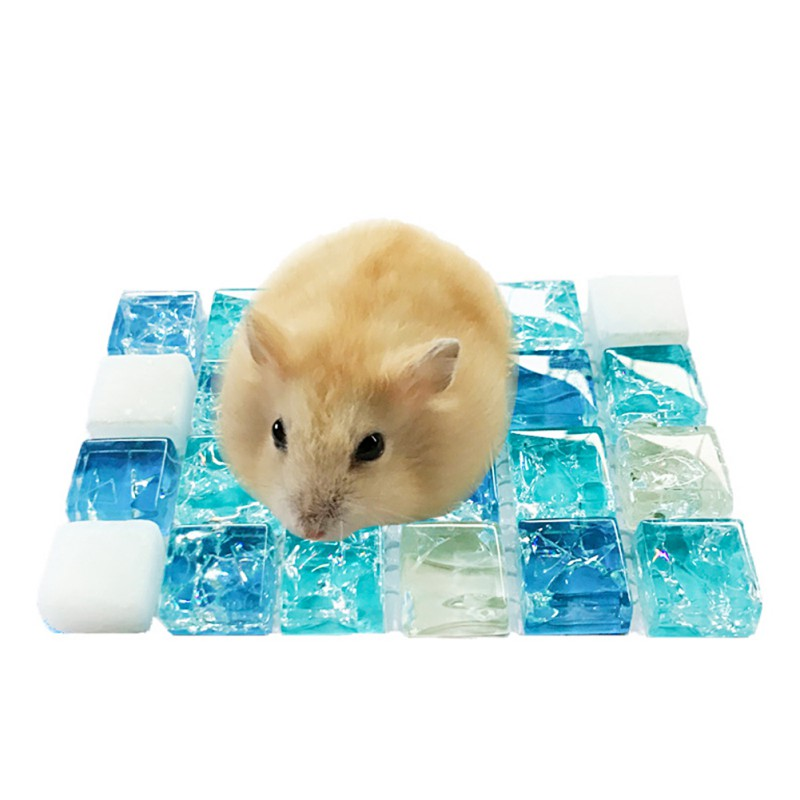 Summer Sleeping Mat Small Pets Hamster Cooling Mat Bed Plastic Pet Cooling Pad For Chinchilla Guinea Pigs Squirrel Cage