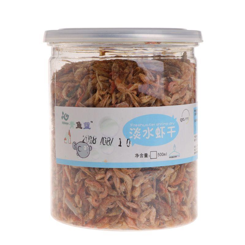OOTDTY 500ml Aquarium Food Dried Shrimp Krill For Fish Turtle Feeding Hamster Protein Fish & Aquatic Pet Supplies