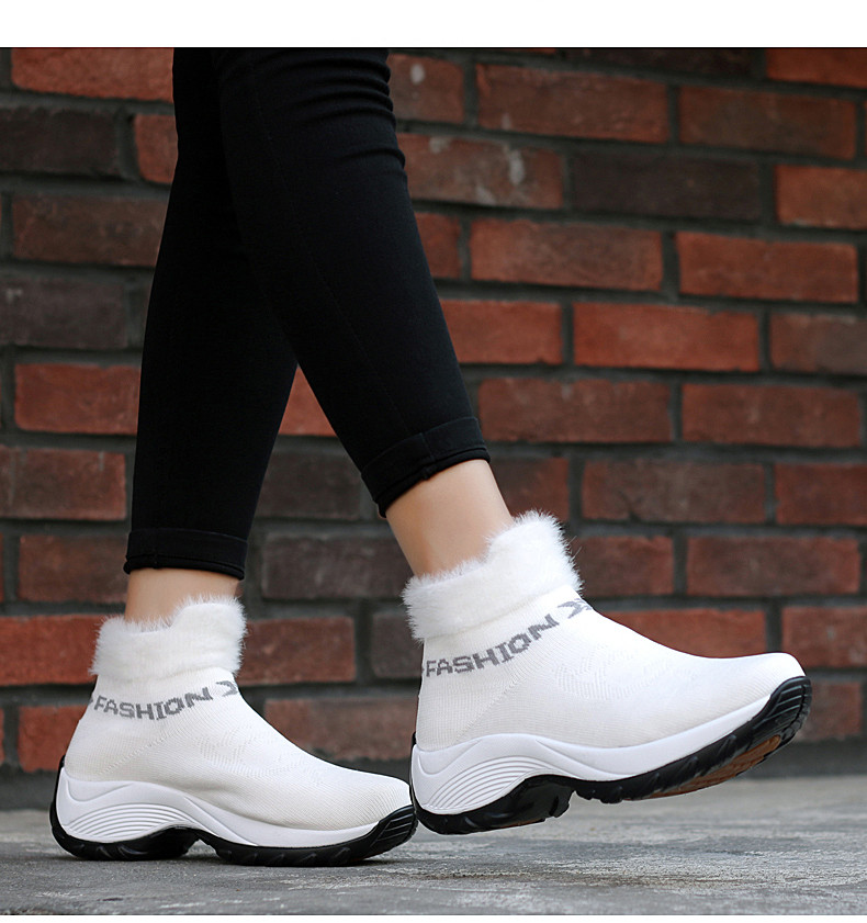 STS BRAND 2019 New Winter Ankle Boots Women Snow Boots Warm Plush Platform Sneakers Breathable Mesh Sneakers Travel Casual Shoes (15)