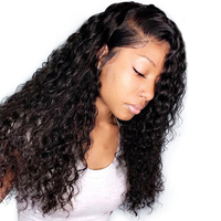 Pre Plucked 360 Lace Frontal Wig 150 Density Deep Wave Human Hair Wigs Brazilian Remy Lace