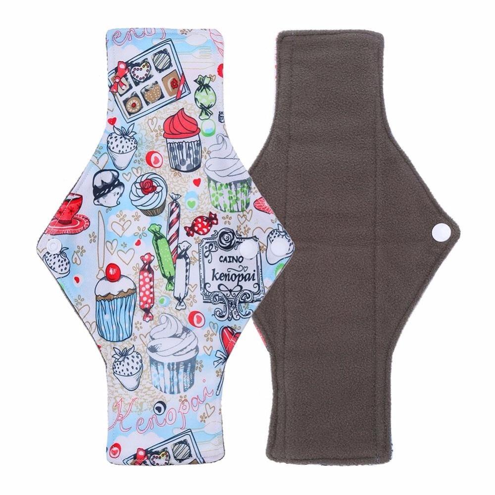 7 Soorten 25*18 Cm Maandverband Herbruikbare Wasbare Bamboe Houtskool Fiber Doek Panty Liner Menstruele Sanitair Fysiologische Pads