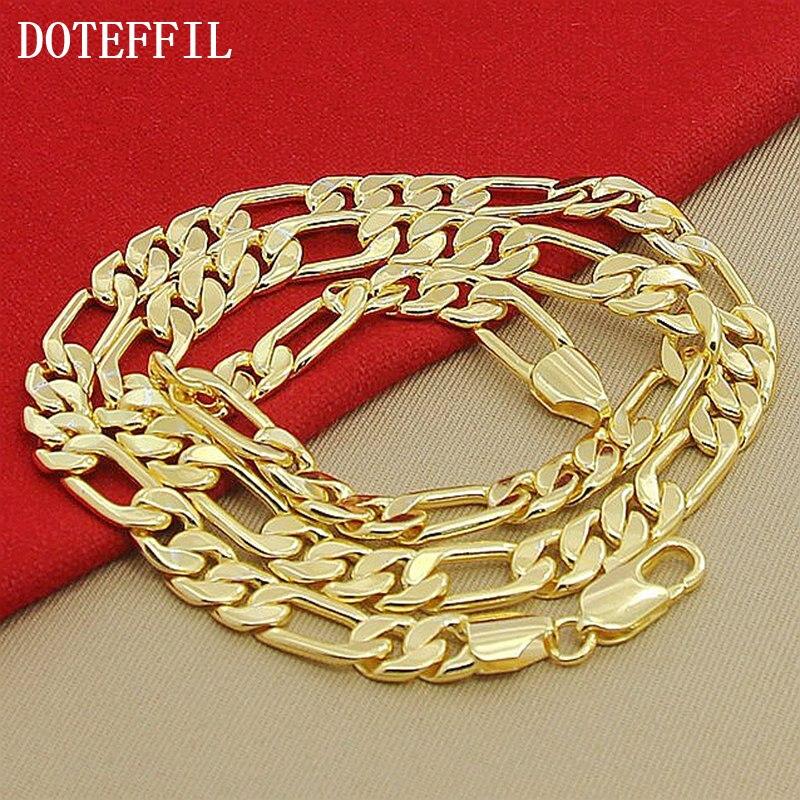 Alta Moda 8mm 22 pulgadas Collar de Cadena de Oro Chunky Males - Bisutería - foto 3