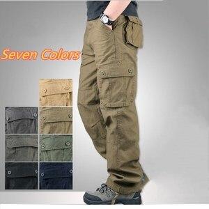 Image 2 - Męskie spodnie bojówki 2019 jesienne spodnie taktyczne dorywczo spodnie bawełniane mężczyźni wiele kieszeni wojskowe spodnie do biegania armii mężczyzn Pantalon Homme