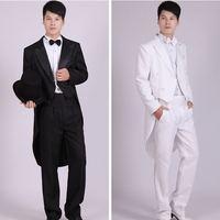 4 Piece Jacket Pants T Bow Tie Belt 2017 Tailcoat Suits Men S Blazers Slim Fit