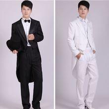 Men Suits 4 Piece (Jacket+Pants T+Bow Tie+Belt) Tailcoat Suits Mens Blazers Slim Fit Groom Wedding Prom Tuxedo  Man Suit