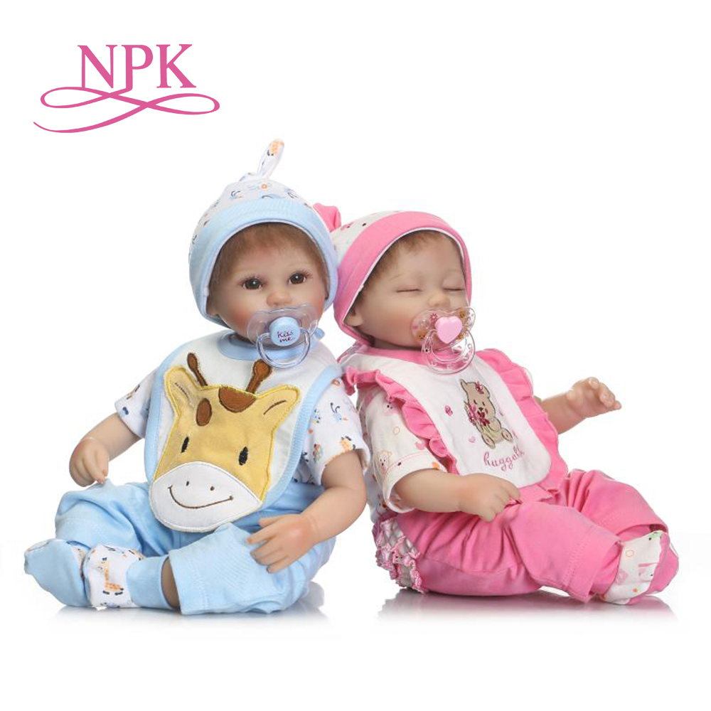 NPK 17inch new arrival handmade lifestyle Reborn Baby Doll Two color optional silicone r ...