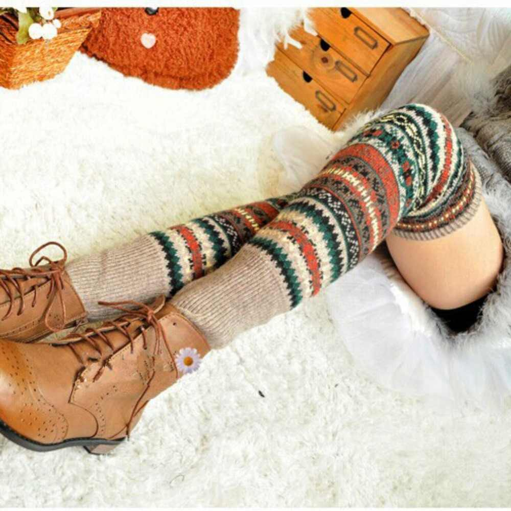 EFINNY Stockings 5 Colors Fashion Women's Stockings Cute Warm Thigh High Over The Knee Socks Stockings Girls Ladies Women