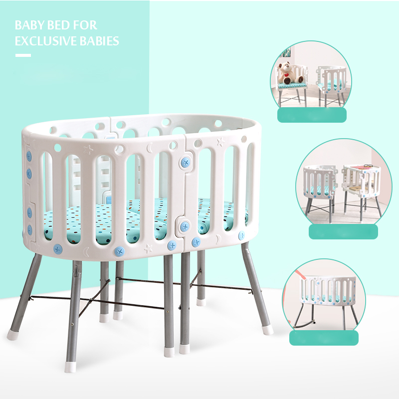 New Multifunctional children's cradle stitching Bunk bed Kids bed Sleep bed baby cradle babies study table Chair dining table