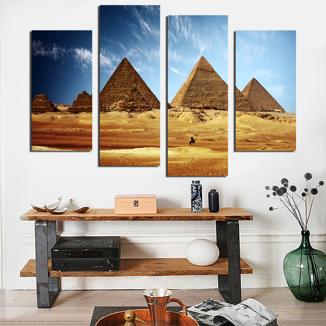 Modern world famous pyramid building printing poster canvas art wall image home decoration without frame TZ076