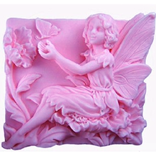 DIY silicone Fairy Molding Angel Pattern Soap Casting Mold Resin Craft Clay Molds