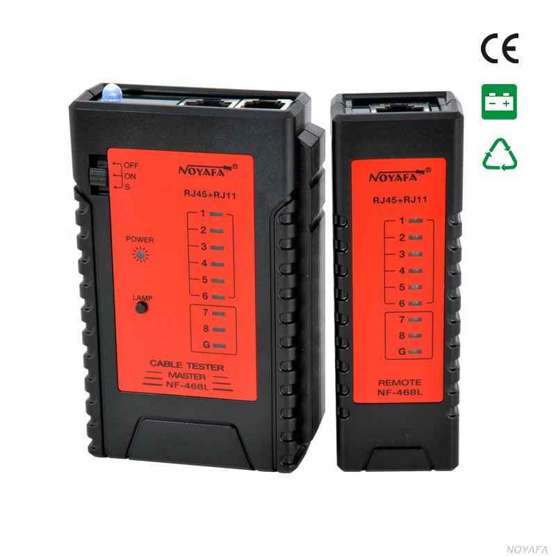 NF-468LCable Непрерывность тестер RJ45 RJ11 кабельный тестер сети провода tracker
