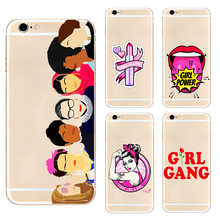 Feminist Girl Gang  fashion hard phone case cover for Samsung s8 s9plus S6 S7Edge S5 iPhone 7 6s 8plus 5s 5c X XS XR XSMAX