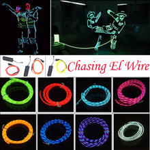 2M Flexible Neon Light Glow El ลวดเชือก(China)