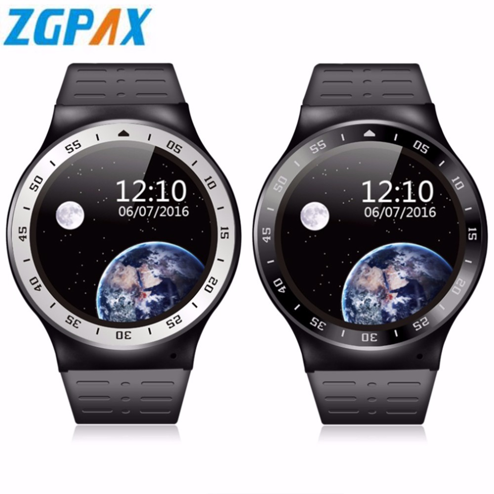 ZGPAX S99A Android 5.1 Smart Watch MTK6580 Quad Core 8GB ROM Bluetooth Heart Rate Monitor WiFi Smartwatch Phone For iOS Xiaomi smart watch smartwatch dm368 1 39 amoled display quad core bluetooth4 heart rate monitor wristwatch ios android phones pk k8