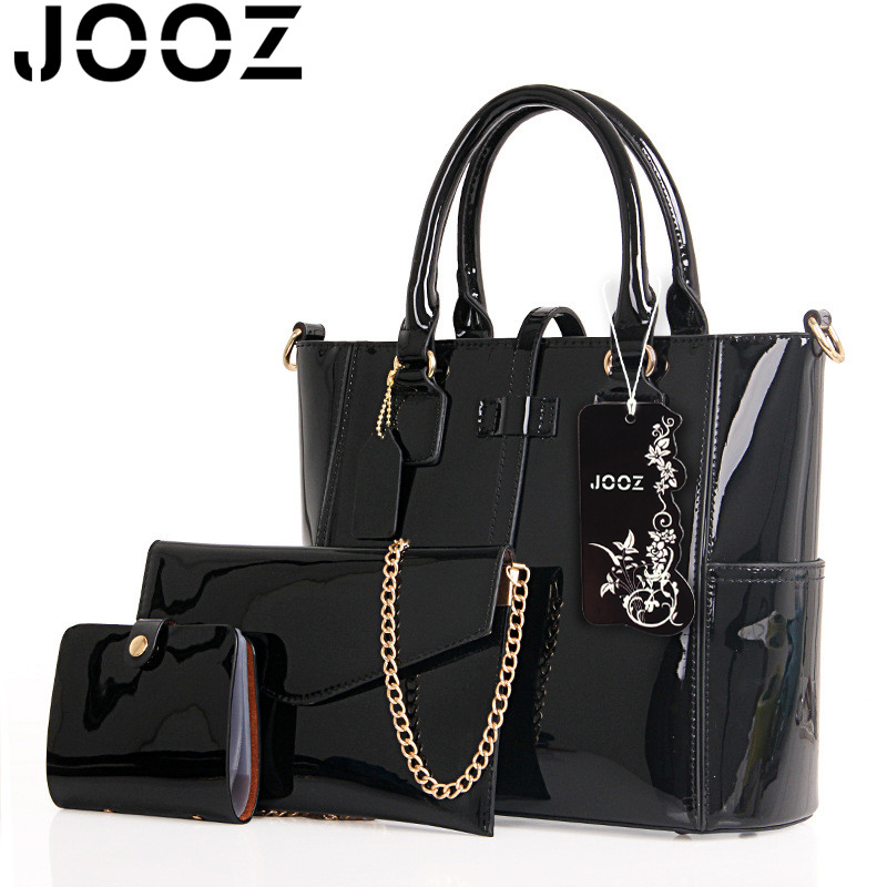 Women handbag luxury leather 2017 Women Bag Famous Brand Women Messenger Bags Chain Shoulder Bags 3 Sets Big Size Tote 1