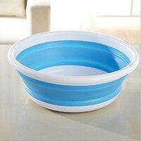 3色プラスチック折りたたみバケツポータブル洗面台折りたたみ洗面食品容器浴室製品キッチンアクセサリー