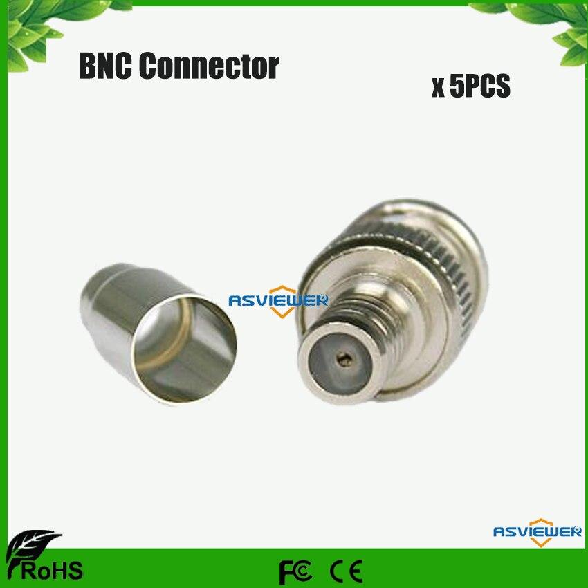 Male BNC Crimp-On Connector RG59 5pcs/Lot