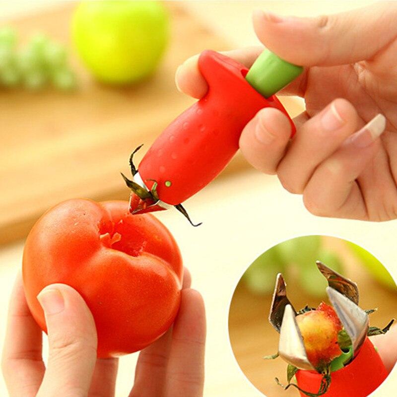 Кухня посуда томатные Стебли фрукты клубничный нож Стебель Листья жидкость для снятия прибор для резки фруктов клубника шелушильная машин...