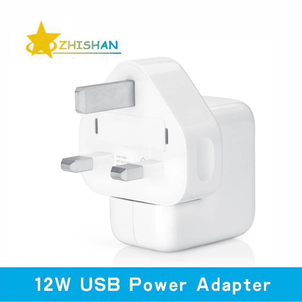 2.4A Fast Charging 12W USB Power Adapter Travel Charger for iPhone 4s 5s 6 Plus iPad Mini Air Samsung Phone and Tablet for UK