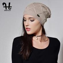 Furtalk кашемировый осень-зима Женщины Hat вязать Skullies шапочки шляпы для девочек женские