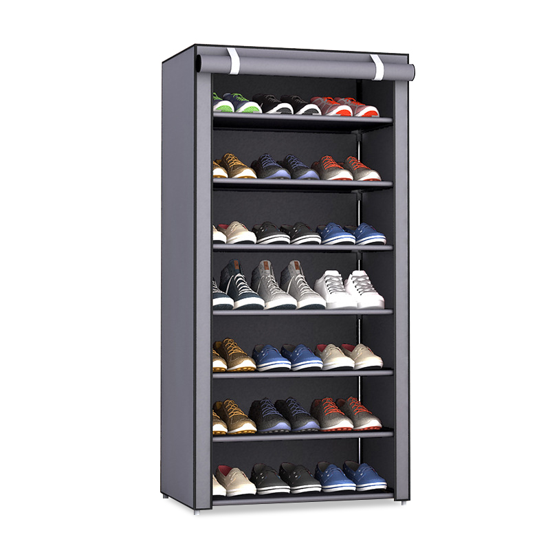 Non-woven Fabric Dustproof Shoe Rack Organizer Can be moved Space-Saving Storage Shoes Cabinet Home Furniture Hallway Shoe Shelf