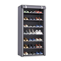 Non woven Fabric Dustproof Shoe Rack Organizer Can be moved Space Saving Storage Shoes Cabinet Home Furniture Hallway Shoe Shelf