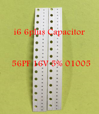 100pcs/lot C2000 C2093 C2090 C2089 C2058 56PF 16V 5% <font><b>01005</b></font> NP0-C0G <font><b>capacitor</b></font> for iPhone 6 6G 6plus 6+ motherboard fix part image